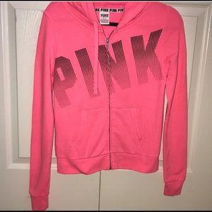 Victoria's Secret pink longsleeve zip up